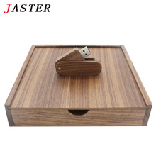 JASTER wooden Photo Album gift box usb drive Flip over Pendrive 8GB 16GB Photography wedding gifts LOGO customer 170*170*35mm