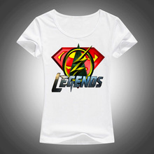 2017 New Summer Women Vogue T shirt Short Sleeve Superman Flash Green Arrow Print t-shirt Casual Tee Shirts Street Tops