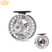 Metal Fly Fishing Reels Ultralight Large Arbor Die Casting Fly Fishing Reel(China)
