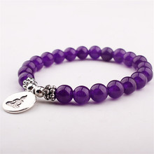 GVUSMIL New Design Men`s Bracelet Natural Stone Buddha Charm Bracelet Mala Yoga Jewelry Wholesale Gift for Him Best Wishes(China)
