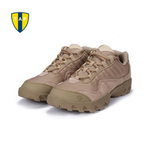 ESDY Men Outdoor Desert Boots U.S Military Assault Tactical Boots Breathable Wear Slip Men Travel Hiking Shoes Botas(China)