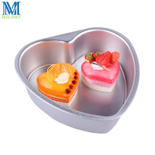 6 Inch Springform Pan Heart Shape Chocolate Cake Mould Removable Bottom Baking Mold Aluminum Alloy Mini Cake Pan(China)