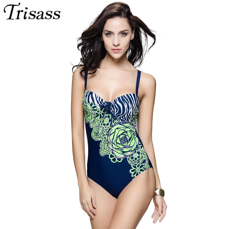 2017 New One Piece Swimsuit Floral Print Swimwear Women Vintage Monokini Bathing Suits Maillot De Bain Hot Springs Plus Size 7XL<br>