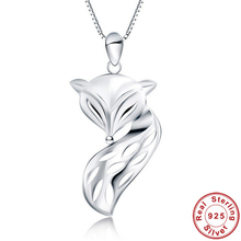 Real Pure 925 Sterling Silver Pendants Sexy Fire Fox Pendants For Women 3 Style Silver Fox Pendants Brand New Fine Jewelry