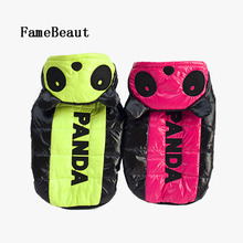FameBeaut New Dog Clothes Warm Pet Coat Cotton Fashion Personality Panda Modeling Casual Style For Puppy For Winter(China)