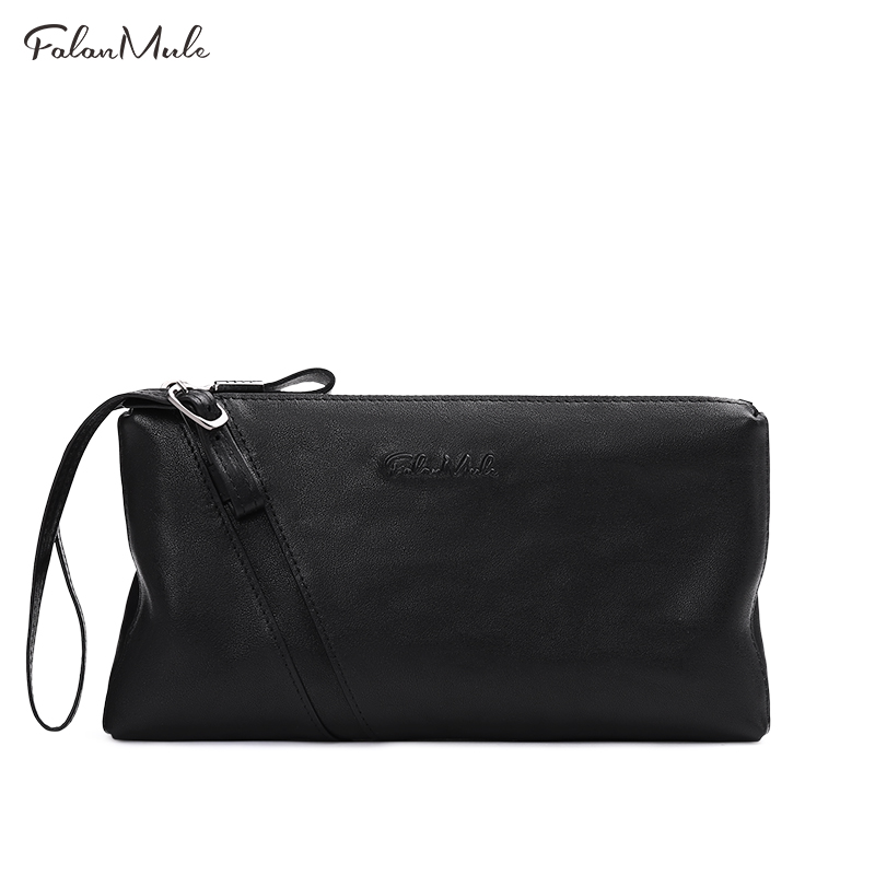 FALAN MULE New Male Clutch Genuine Leather Wallet Men Clutch Bag Clutch Male Wallet Coin Purse Long  Men Wallet Men Handy Bag<br>