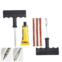 1 Set Auto Car Tire Repair Tool Kit For Tubeless Emergency Tyre Fast Puncture Plug Repair Block Air Leaking(China)
