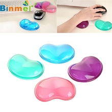 Binmer Best Mecall Tech Heart Silicon Mouse Pad Clear Wristband Pad For Desktop Computer Wonderful Gift(China)