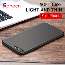 Luxury Back Matte Soft Silicon Case For iPhone 8 7 Cases 6S 7 Plus 6 Candy Full Cover For iPhone 7 Case Plus Phone Coque Fundas(China)