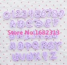 36 pcs English Letter Font Alphabet Cookie Cutter Number Cookie Cutter Set Cake Tool Decorating Fondant Mold Free shipping(China)