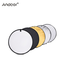 "Andoer 24"" 60cm Disc 5 in 1 Multi Portable Collapsible Photography Studio Light Reflector (Gold/Silver/White/Black/Translucent)(China)"