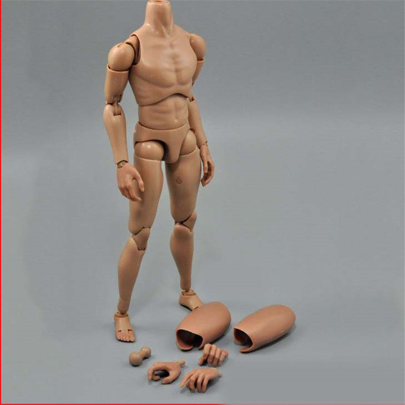 Mnotht 1/6 Solider Toys B006 High neck Narrow shoulders Body Normal height For 12in Figure Male Solider Model Toys l30<br>