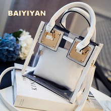 Transparent Tote Bag Women's Handbag Crystal Large Beach Bags Candy Color Jelly Bags Girls Waterproof Big Shoulder Casual Bags