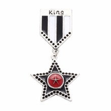 New Five Star Brooch Pins Women Garment Accessories Men Suit Badge Pins Brooches Jewelry Broches Pin XR256(China)