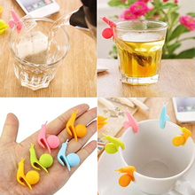 NEW 5Pcs Tea Bag Holder Cute Snail Shape Silicone Cup Mug Hanging Tool Gift Set