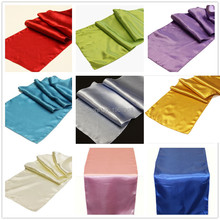"DHL Free Shipping Factory Sales 30pcs/Lot Satin Table Runners 12""x108"" Wedding Party Hotel Decorations Satin Table Center Runner"