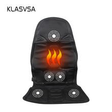 KLASVSA Neck Back Massage Heat Cushion Home Car Magnetic Field Lumbar Heat Vibrate Cushion Neck Massage Chair Massage Relaxation