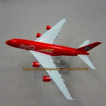 FANNIYA 16cm Alloy Metal Red Air Malaysia Airlines Airbus 380 A80 Airways Plane Model Aircraft Airplane Model w Stand  Gift