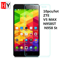 High Transparent Screen Protector Film For ZTE V5 MAX N958ST N958 St Anti Finger Print 0.26mm Tempered Glass Film 10pcs/lot