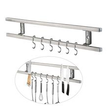 16 Inches Stainless Steel Block Wall-Mounted Magnetic Knife Holder Double Bar Knife Rack For Knives Utensils And Kitchen Sets