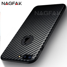 NAGFAK Hard Ultra Thin Carbon Fiber Case Cover For iphone 7 7 plus Case Slim Plastic Phone Cases For iPhone 6 6s 5 5s SE Cover