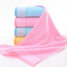 Simanfei 2017 New Solid Soft Striped Face Towel 35cm*75cm Family Cotton Brand Towels 90g