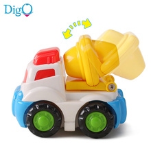 Baby Boy Little Toy Truck Kids Cartoon Model Plastic Inertial Car miniatures Engineering Mini Vehicles Toy for Children D51