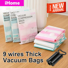 5PCS NEW! Thickened Vacuum Storage Bag Vacuum Compressed Bag with Hand Pump Reusable Blanket Clothes Quilt Storage Bag Organizer