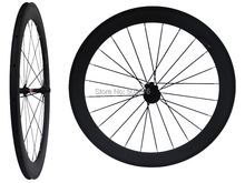 WS-CW06 :  Carbon Matt Cycling Road Bike Clincher Wheelset 60mm 700C Bicycle Wheel Rim Basalt Brake Side