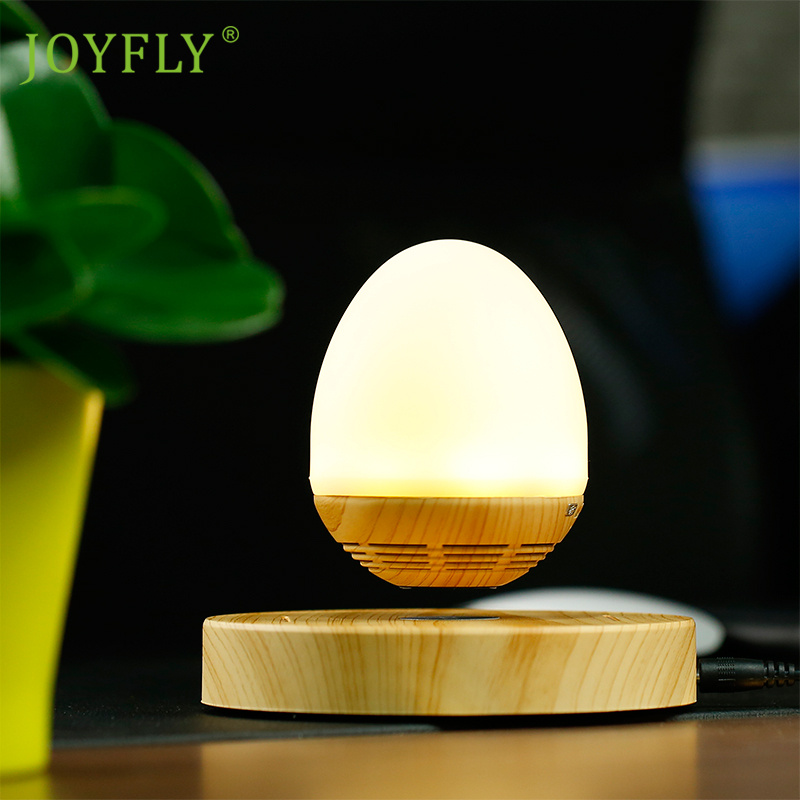 JOYFLY LED Bulb Portable Levitating Bluetooth Speaker Wood Grain Base Floating Maglev Speaker 360 Degree with NFC for Smartphone<br><br>Aliexpress