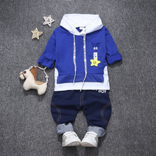 Buy Children Boys Girls Fashion Clothing Suits Kids Spring Autumn Tracksuits Baby Hoodies Pants 2Pcs/sets Toddler Hooded Clothes for $10.18 in AliExpress store