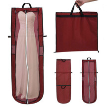 Non-woven Bridal Garment Bag Wedding Evening Ball Gown Dress Clothes Storage Bag Wedding Boots Easy To Carry