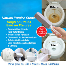 2pcs Practical Water Toilet Bowl Natural Pumice Stone Cleaner Brush Wand Tool