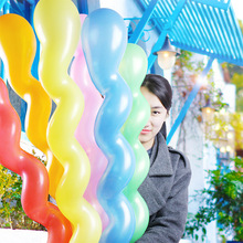 10pcs 3g Thickening Screw Twisted Latex Balloon Spiral Long Balloon Bar KTV Party Supplies Strip Balon Inflatable Toy baloes big