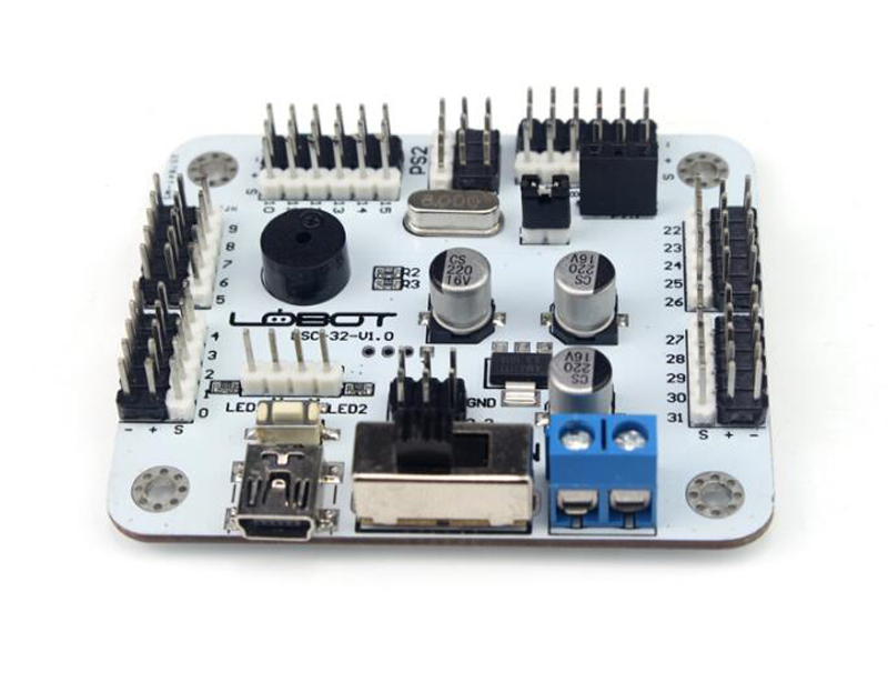 32-way Steering Gear Control Panel Servo Controller PS2 Handle Robot Motherboard arduino development Mechanical arm  <br>