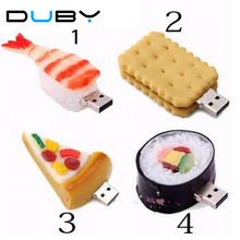New Hot Sale Emulate Foods Biscuit Bread Sushi Shrimp Wholesale Genuine 4GB 8GB Usb 2.0 Memory Flash Stick Pen Drive LU16-707