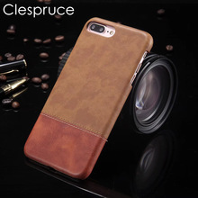 Clespruce Sport Retro Leather Case Cover For iPhone X 8 plus Case Luxury Soft Black brown Stripe Cover For iphone 6 6s 7 Plus(China)