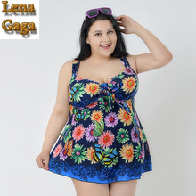 Lena Gaga One Piece Swimsuits Plus Size Swimwear Large Size Swimwear Breast Bust Big Piece Bathing Suit Fat Women Swim Suit 6xl7(China)