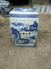 Blue And White Antique Stool For Dressing Table Drum Stool Chinese Porcelain Garden Stool Ceramic jingdezhen round garden stool