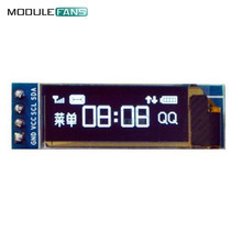 "0.91"" OLED Display Module 128x32 Pixels Resolution White Characters In Black Background 14pin I2C IIC Communicate"