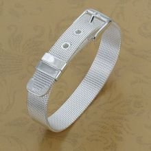 H237 Wholesale! silver plated  bracelet  silver fashion jewelry charm bracelet Small Web Watch Belt Bracelet