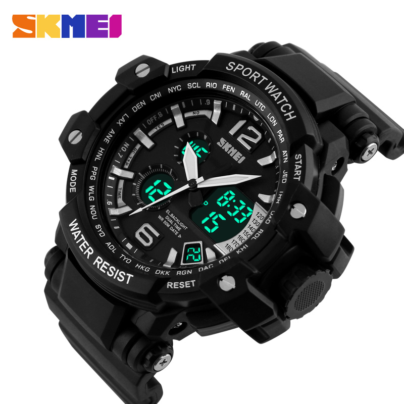 New Brand SKMEI Fashion Military Watch Men Waterproof Sport Quartz Watches Mens Relogio Digital Watch Reloj Hombre<br><br>Aliexpress
