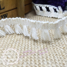 1/meter beige cotton small fringed lace 1.8 cm wide