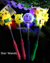 20pcs/lot Wholesale Cartoon Star Wands LED Glow Minions Hello kitty Spongebob Rose Star Wand for Kids Toys Concert Free Shipping