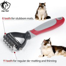 2-Sides 2-Blades 2-Usages Arc Pet Grooming Combs For Cats Dogs Hair Knotting Nemesis Keep Your Pets In Comfort(China)
