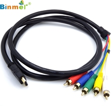 HDMI to 5 RCA Male Audio Video Component Convert Cable For HDTV TV BOX 1080P DVD LJJ0119