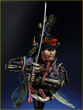 Free Shipping 1/10 Scale Unpainted Resin BUST Japanese Samurai Warrior
