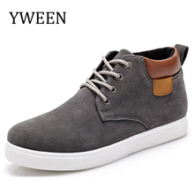 YWEEN Men Casual Shoes Cotton Spring Autumn New Arrival Lace-up High Style Youth Ankle Man Flat Shoe Top Fashion(China)