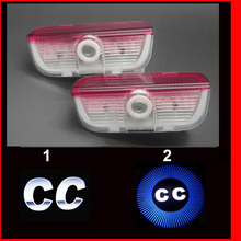 factory promotion LED Door welcome Light With VW Logo Projector laser lamp For volkswagen CC ghost shadow light(China)