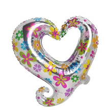 TSZWJ C-062 new children's toys, aluminum balloons birthday party valentine heart i love you balloon wholesale Gogo(China)
